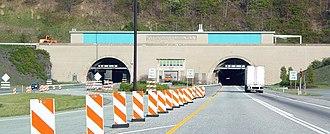 Kittatinny Mountain Tunnel - The western portal of the Kittatinny Mountain Tunnel