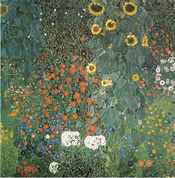File:Klimt - Bauerngarten mit Sonnenblumen - ca1907.jpeg