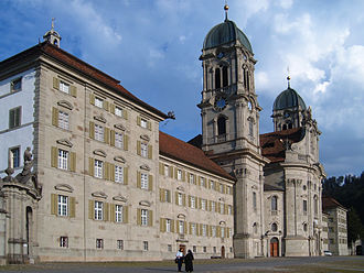 Einsiedeln Abbey - The abbey as seen from the left