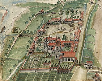 Kreuzlingen Abbey - Kloster Kreuzlingen 1633