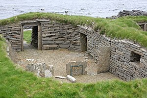 Westray to Papa Westray flight - Archaeological site in Papa Westray, Scotland: The Knap of Howar is possibly the oldest stone house in Northern Europe.