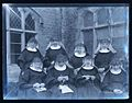 Knitting nuns! Poor Clares Priory, Woodchester, early 1900s (7931748720).jpg
