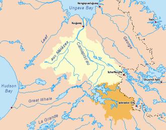 Caniapiscau River - Image: Koksoak map