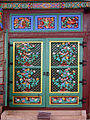 Korea-Seoul-Jogyesa Main Hall door 2191-06.JPG