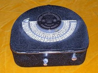 Kryha - The standard Kryha machine weighed around five kilograms and was totally mechanical. While the machine achieved a measure of popularity, its security was relatively weak; US cryptanalyst William Friedman reported that he solved the device within 2 hours and 41 minutes.