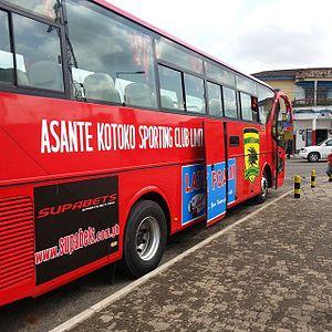 Asante Kotoko S.C. - Ashanti's Kumasi Asante Kotoko Squad Coach (Bus).