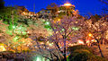 Kurashki city at night during Hanami (Sakura blooming season). Okayama Prefecture. Japan-2.jpg