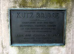 Kutz Bridge plaque.JPG