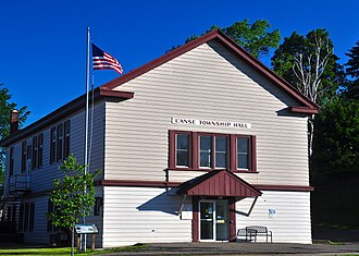 L'Anse Township, Michigan - L'Anse Township Hall in the village of L'Anse