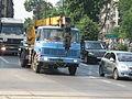 LIAZ crane truck on Zygmunta Kasińskiego, Ziewrzyniecka and Tadeusza Kościuszki intersection in Kraków (1).jpg