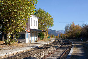 La Beaume - The La Beaume railway station, on the line between Livron and Aspres-sur-Buëch
