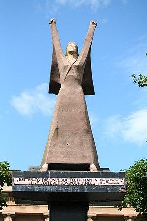 Dolores Ibárruri - La Pasionaria statue in Glasgow, Scotland