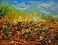 La batalla de San Jacinto, Nicaragua, Obra del artista nicaragüense Wilberth Sáenz.jpg