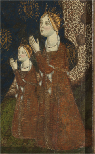 Juana Manuel - Juana and one of her daughters, painted by Jaime Serra in the mid-fourteenth century