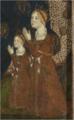 La reina Juana Manuel y una de sus hijas (Detalle del cuadro de la Virgen de Tobed).png