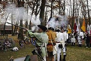 Augustin de La Balme - Musket salute commemorating the 225th anniversary of LaBalme's Defeat, 5 November 2005
