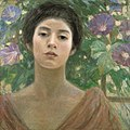 Lady with Morning Glory by Fujishima Takeji.jpg
