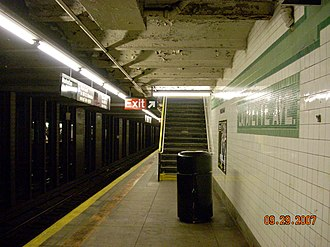 Lafayette Avenue (IND Fulton Street Line) - Image: Lafayette ave