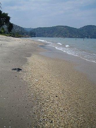 History of Rwanda - Shore of Lake Kivu at Gisenyi