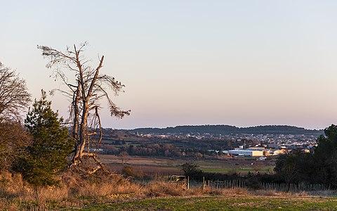 Landscape near Nissan-lez-Enserune, France