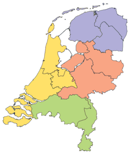NUTS statistical regions of the Netherlands