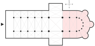Chancel - Plan with the broader definition of the chancel highlighted