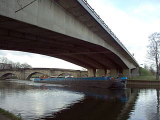 Aire and Calder Navigation Canal in West Yorkshire, England