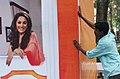 Last miniute touch up is progressing at sourronding area of INOX Box office at panjim, Goa on November 22,2007.jpg