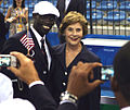 Laura Bush & Lopez Lomong at 2008 Summer Olympics 2008-08-08.jpg