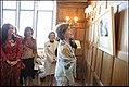 Laura Bush and Cristina Kirchner look over Eva Perón photographic exhibit.jpg