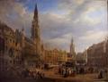 Lauters, Scène de marché sur la Grand-Place à Bruxelles.png