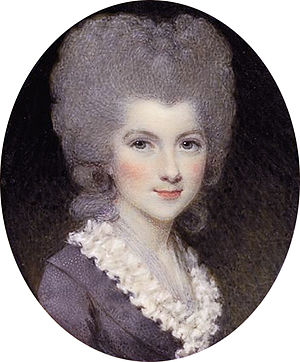 Samuel Shelley - Lady Lavinia Bingham, Countess Spencer by Samuel Shelley, 1780