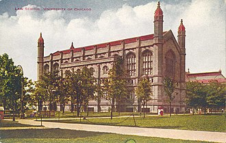 University of Chicago Law School - The law school, depicted in a postcard from the 1910s