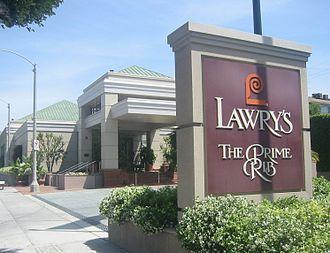 Lawry's - Lawry's restaurant on La Cienega Boulevard in Beverly Hills, California