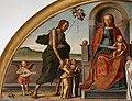 Lazzaro bastiani, madonna col bambino in trono tra santi e il donatore giovanni degli angeli, 1484, 02 giovanni battista e angeli.jpg