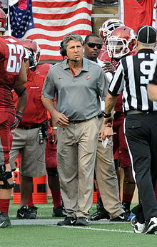Washington State football coach Mike Leach during a 2012 season game.