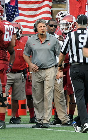 Mike Leach (American football coach) - Washington State University football coach Mike Leach during a 2012 season game