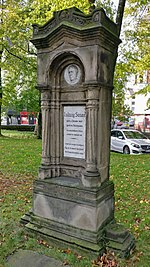 The monument in honor of Ludwig Susen in the old cemetery of St. Mary's church Duisburg