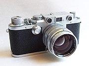 Leica IIIf (1950), una de las ultimas ¿monturas de rosca?  con un 50 mm/f1.5 Summarit