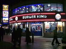 A Burger King in London, England