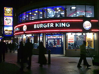 Burger King - Burger King restaurant in Leicester Square, London, United Kingdom