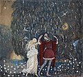 Lena och riddaren dansa (Lena dances with the knight) by John Bauer 1915.jpg