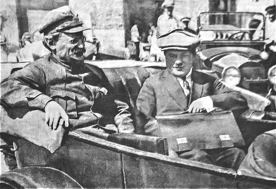 Leon Trotsky and Leonid Serebryakov attend the Congress of Soviets of the Soviet Union May 1925