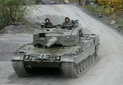 A Leopard 2A4 of the Bundesheer