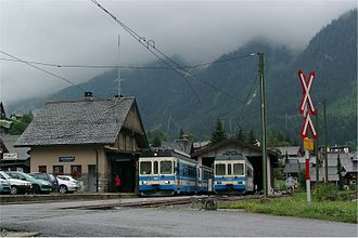 Aigle - Train station at Les Diablerets