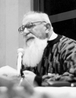 Lev Kopelev at a reading in Bad Münstereifel, the 1980s