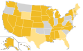 Libertarian Party Ballot Access Locator Map, 1976 (United States of America).png