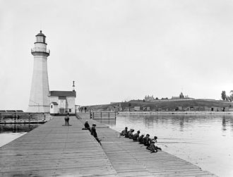 Oswego, New York - Recreational fishing at Oswego, c. 1900.
