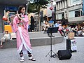 Lily Cao as Nezuko Kamado playing the western concert flute 20201101d.jpg