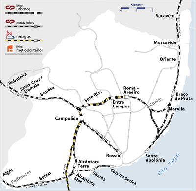 mapa da cp lisboa CP Urbanos de Lisboa – Wikipédia, a enciclopédia livre mapa da cp lisboa
